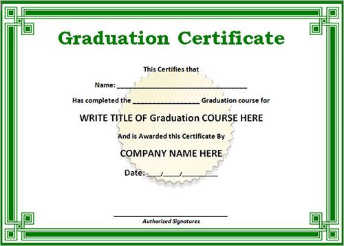 14+ Sample Certificates Sample Templates - sample graduation certificate