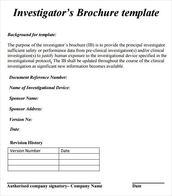 9+ Investigator Brochures - Word, PDF