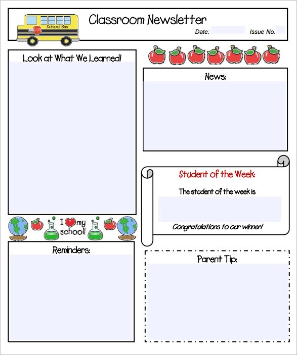 free preschool newsletter template microsoft word - Delliberiberi - preschool newsletter template