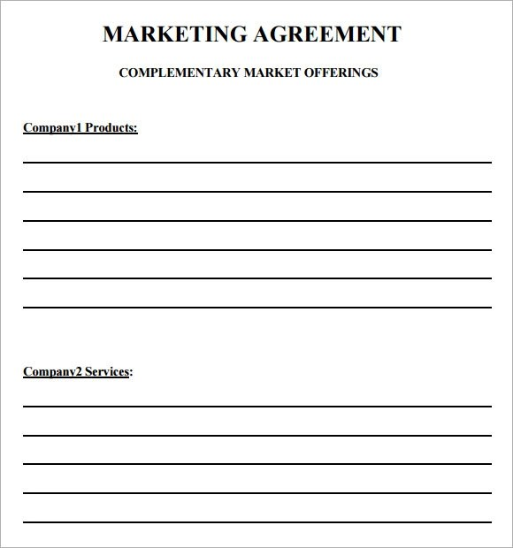 19 Sample Marketing Agreement Templates to Download Sample Templates - marketing agreement template