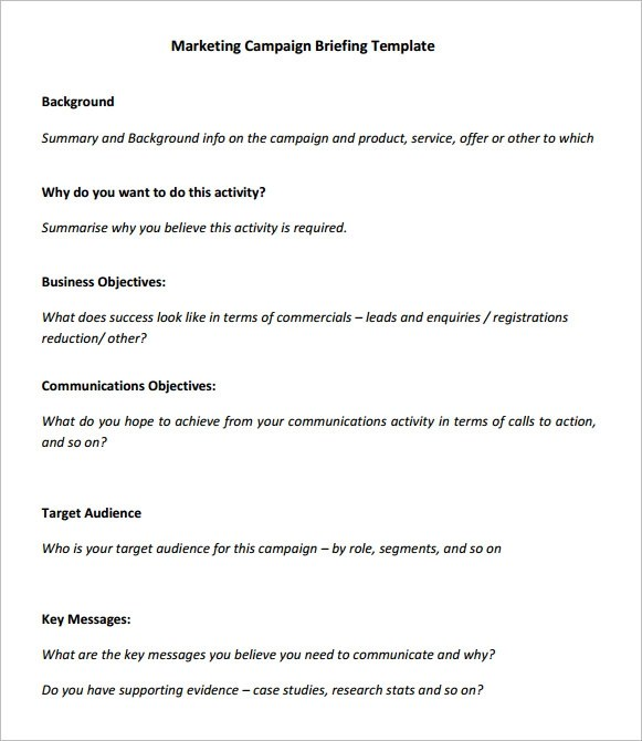 marketing campaign template word - Onwebioinnovate - sample marketing campaign