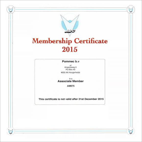 Sample Membership Certificate - 13+ Documents in PDF, PSD