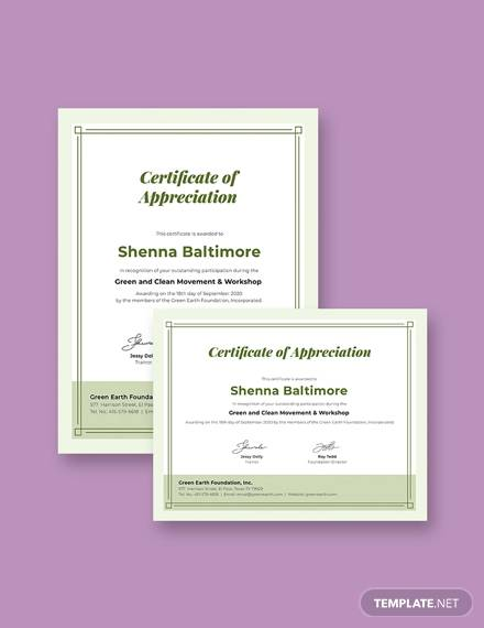25+ Sample Participation Certificate - PSD, PDF, Word, AI, InDesign