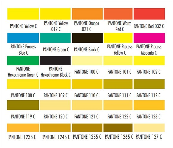 Sample Pms Color Chart simpletext
