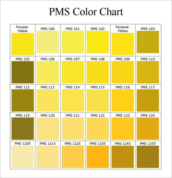 7 Sample Pms Color Chart Templates to Download Sample Templates - sample pms color chart