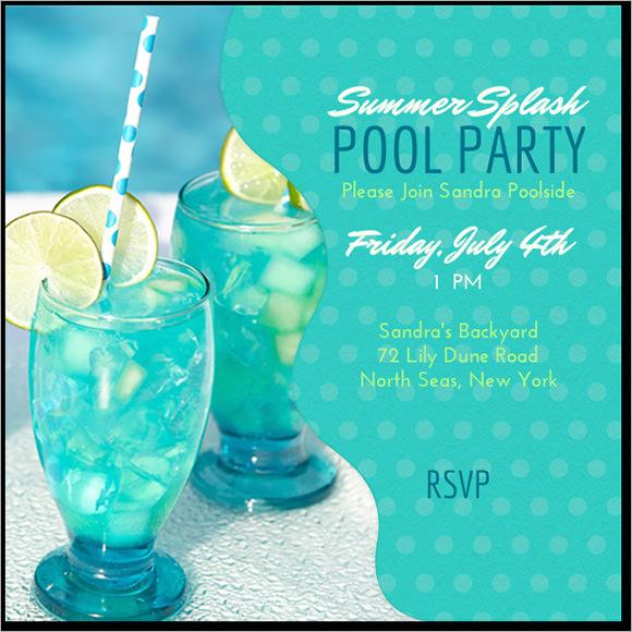 pool party invite wording