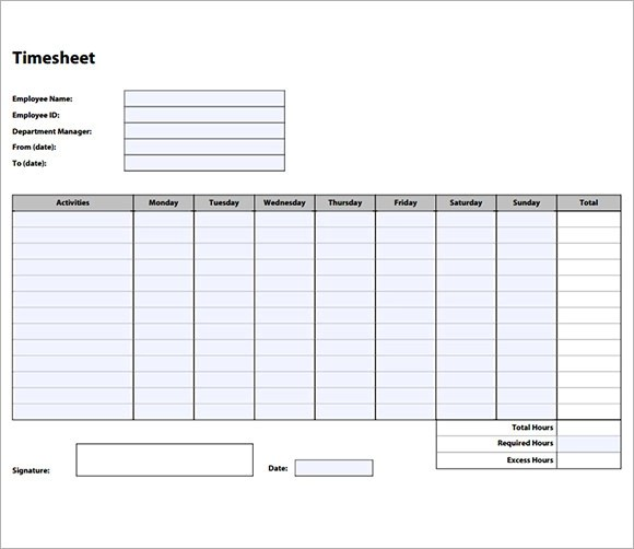sample employee time sheet lexu