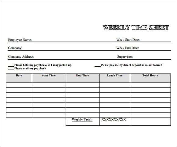 weekly time sheet sample \u2013 bookhotels