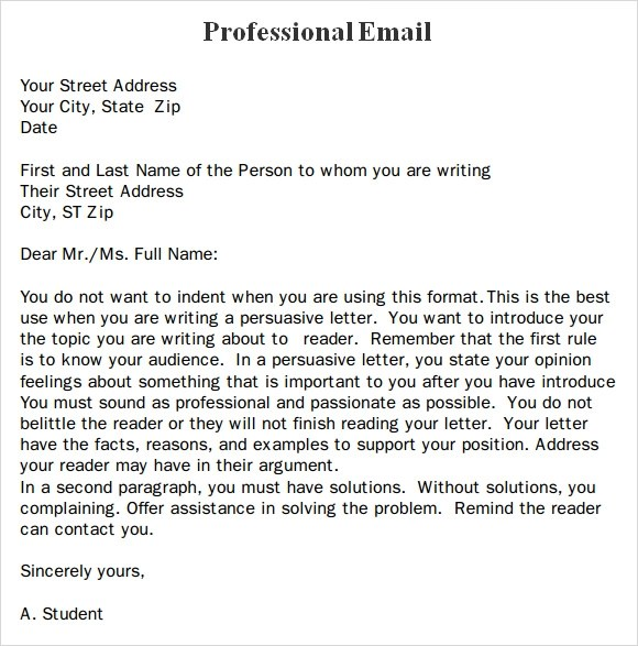 Professional Email Template - Slim Image