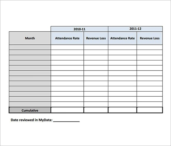 10+ Attendance Tracking Samples Sample Templates - sample attendance tracking