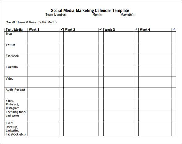 Sample Marketing Calendar sample marketing calendar template sample - sample marketing schedule