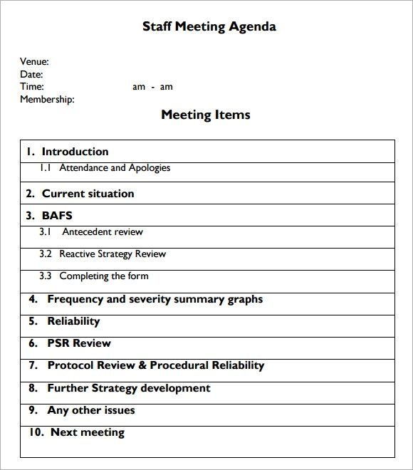 meeting agenda outline template