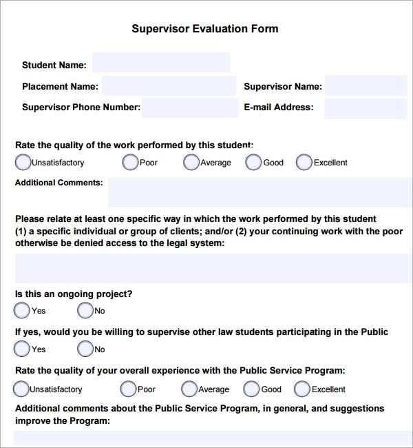 Template For Employee Evaluation Form  Reference Letter Sample