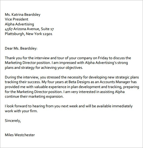Follow Up Interview Letter Proper Follow Up Letter After - writing post interview thank you letters