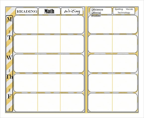 Sample Weekly Lesson Plan - 7+ Documents In Word, Excel, PDF
