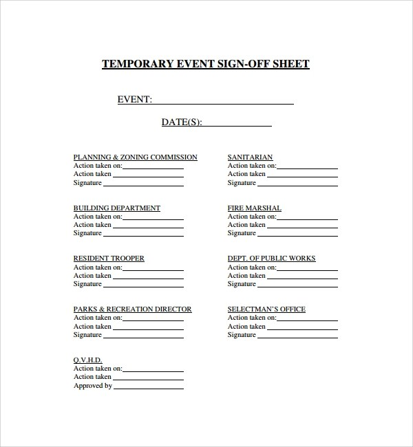 13+ Sign Out Sheet Templates \u2013 PDF, Word, Excel Sample Templates - sample event sign in sheet template