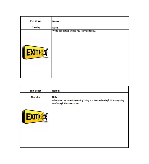 Exit Ticket Template - 11+ Download Free Documents in PDF, Word - Printable Ticket Templates