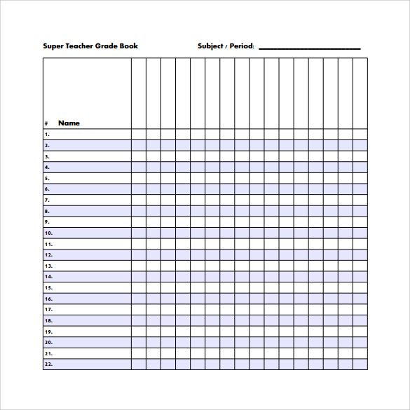 printable gradebook template - Goalgoodwinmetals - Teacher Grade Book Printable