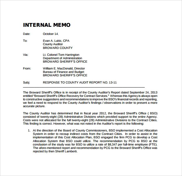 format for internal memo - Boatjeremyeaton - sample internal memo template