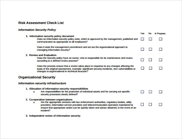 10+ Sample Security Risk Assessment Templates - PDF, Word - sample security risk assessment