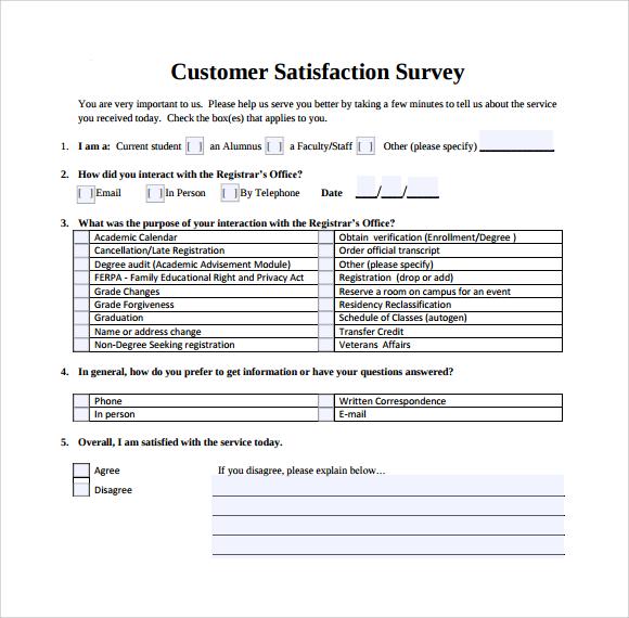 CLIENT SATISFACTION SURVEY TEMPLATE DOWNLOAD
