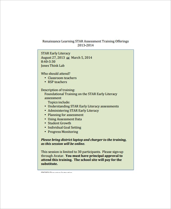 8+ Star Assessment Templates Sample Templates - tribute speech examplestraining evaluation form