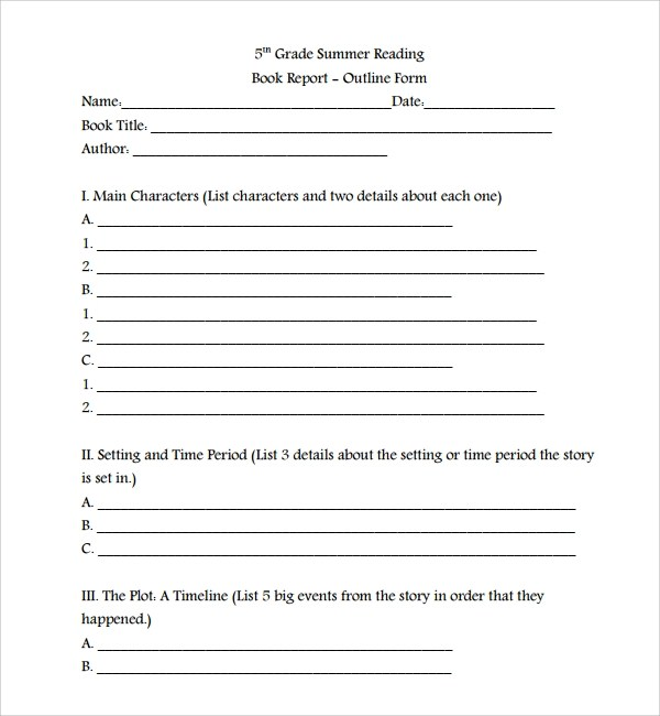 book report outline - Josemulinohouse - book outline template