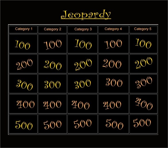 Blank Jeopardy Template - 9+ Download Documents in PDF , PPT - sample jeopardy powerpoint