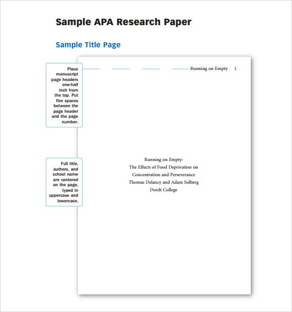 apa outline template - Teacheng - apa template paper