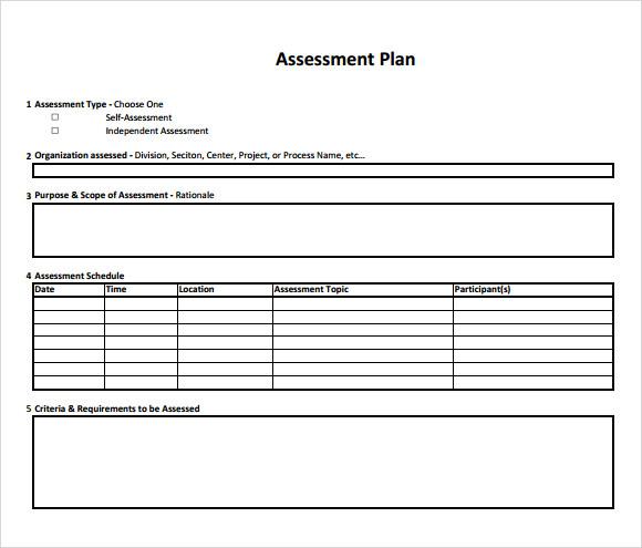 Assessment Plan Template Assessment Plan Template Program Assessment