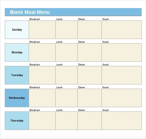 21+ Blank Menus Templates - PSD, Ai, Pages, Docs