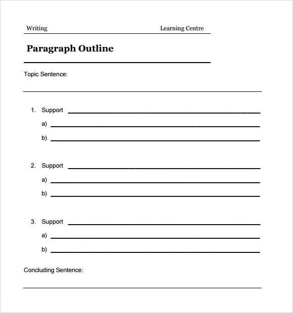 essay outline template mla format