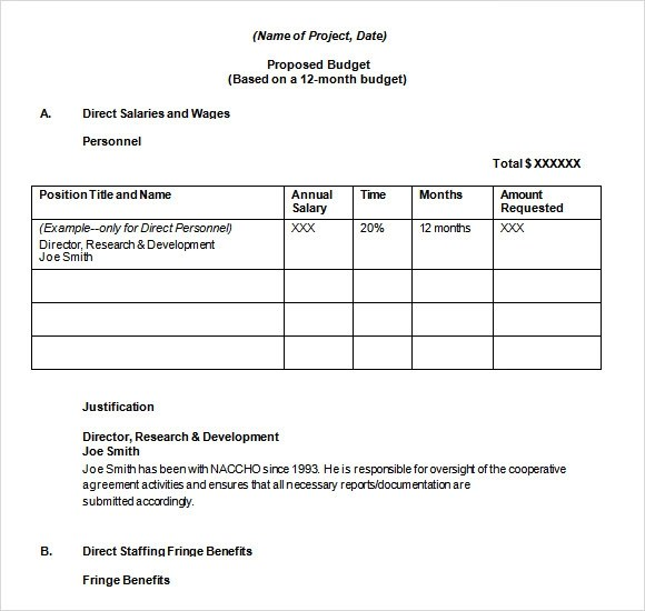 17 Sample Budget Proposal Templates to Download Sample Templates - project proposal template word