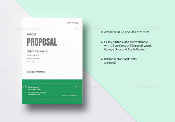 17 Sample Budget Proposal Templates to Download Sample Templates - company proposal template
