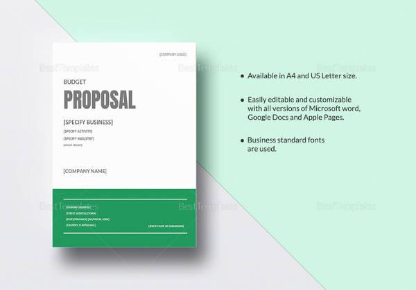 17 Sample Budget Proposal Templates to Download Sample Templates