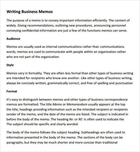 7+ Company Memo Templates Sample Templates - Sample Business Memo