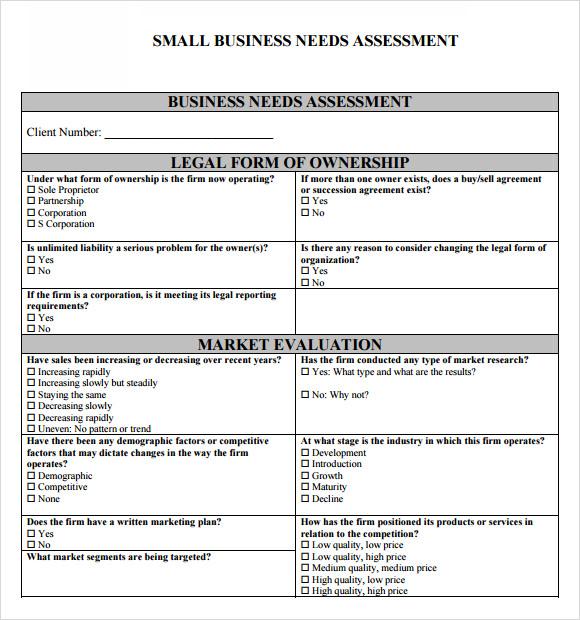 needs assessment template - Wwwwellnessworks
