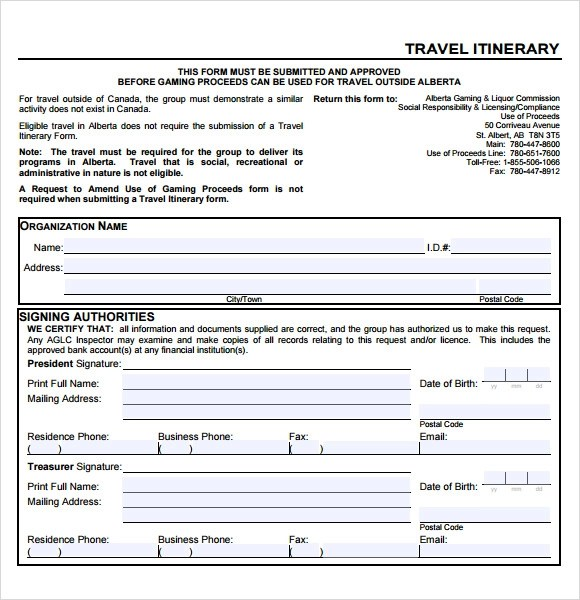 8 Sample Business Travel Itinerary Templates to Download Sample