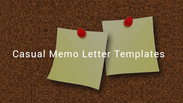 6+ Sample Casual Memo Letters Sample Templates