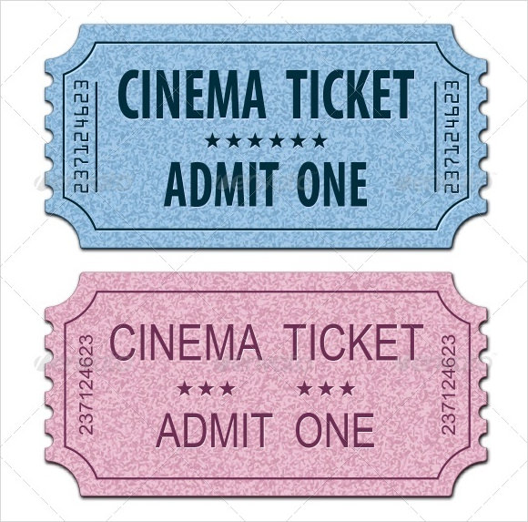 Printable Tickets Templates  Ticket Template  115  Ticket