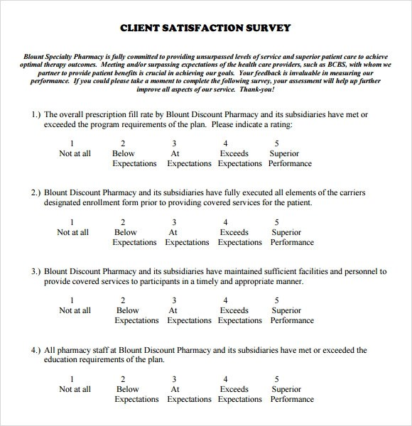 Customer Service Satisfaction Survey Template Free | Resume