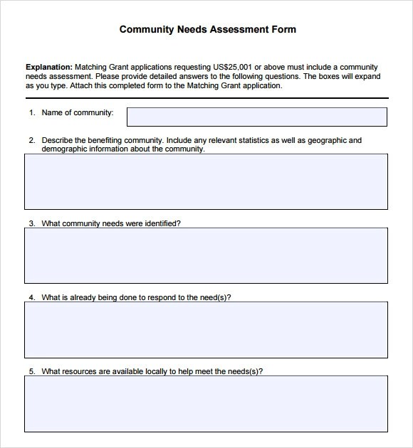 9 Sample Community Needs Assessment Templates to Download Sample