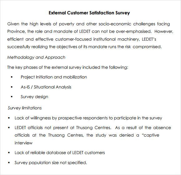 sample questionnaire on internal customer satisfaction survey xv