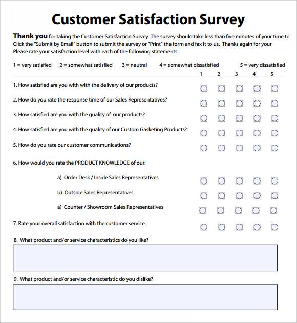 customer satisfaction survey sample - Ozilalmanoof