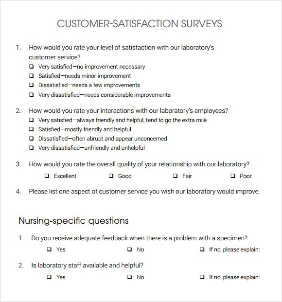 13 Sample Customer Satisfaction Survey Templates to Download - Feedback Survey Templates