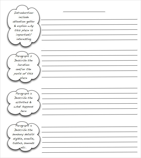 essay writing templates - Engneeuforic - blank writing sheet