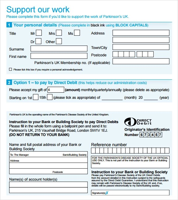 Sample Donation Sheet - 5+ Documents in Word, PDF - Donation Form Templates