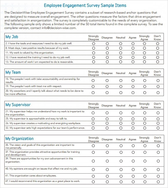 Doc.#: Printable Survey Template – Sample Blank Survey 6 Documents