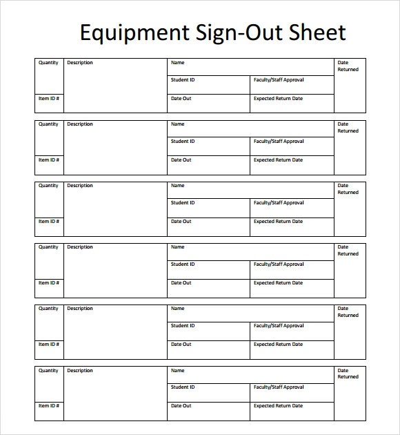13+ Sign Out Sheet Templates - PDF, Word, Excel