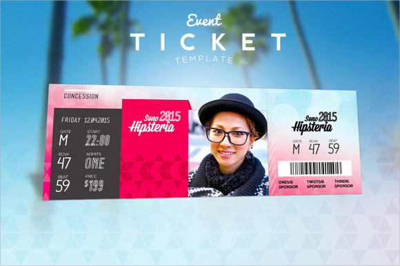 Ticket Template Psd Gallery - Template Design Ideas - event ticket template free download